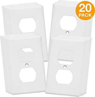 ENERLITES Duplex Outlet Wall Plate, Mid-Size 1-Gang 4.88