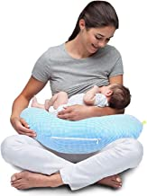 Baybee New Born Checked Portable Breast Feeding Pillow | Infant Support for Baby and Mom | Best for Breastfeeding Moms (Blue)