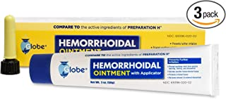 Hemorrhoidal Pain Relief Ointment Generic For Preparation H 2 oz (57g) Per Tube (3 PACK)