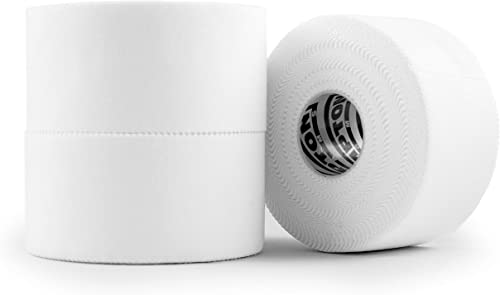 (3 Pack) White Athletic Sports Tape VERY Strong EASY Tear NO Sticky Residue BEST TAPE for Athlete & Medical Trainers....