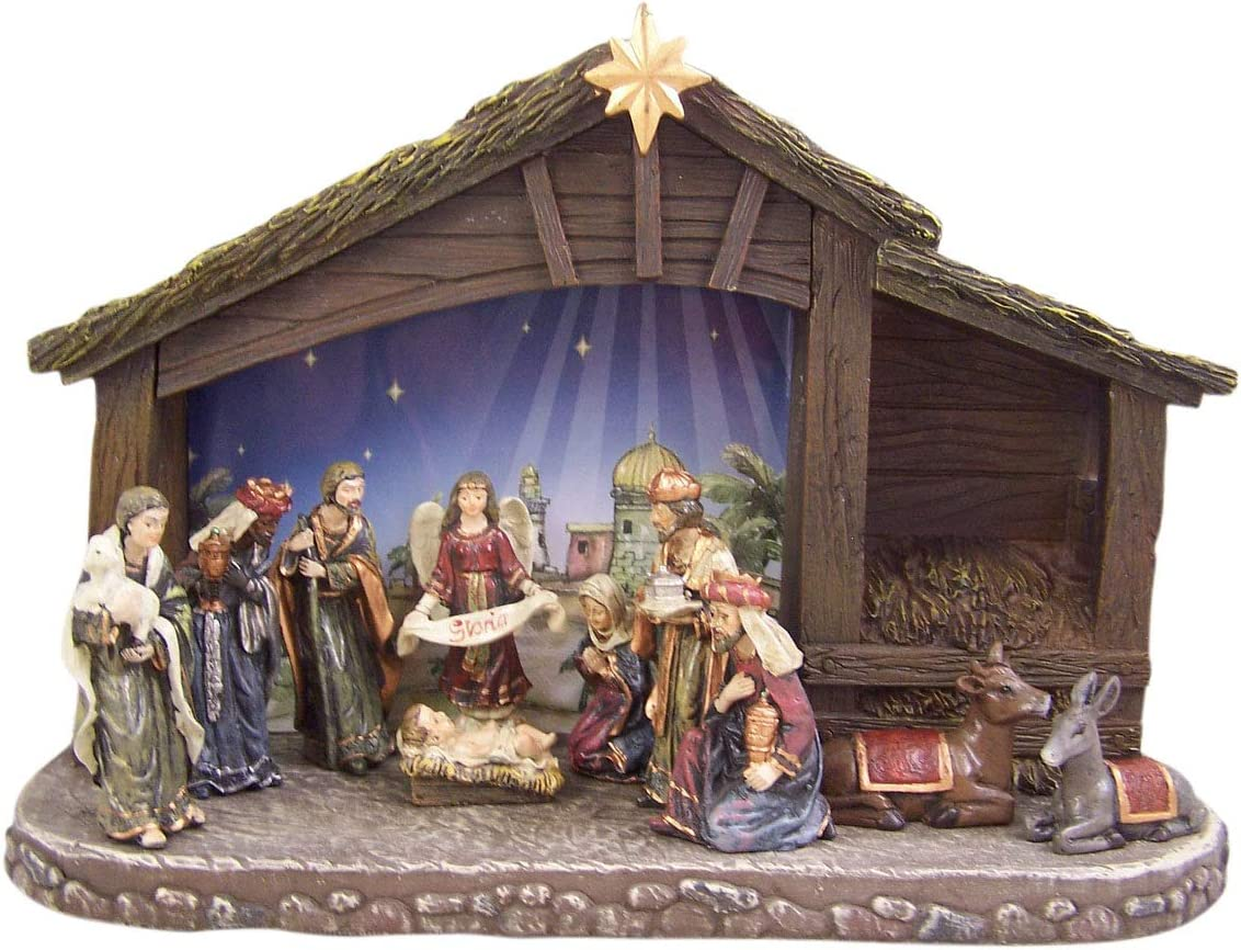 Christian Brands Eleven-Piece Nativity Stable with Sales Ranking TOP4 results No. 1 Lighted Set