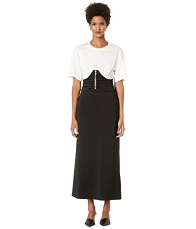 Boutique Moschino Short Sleeve Corset Maxi (Black/White) Women