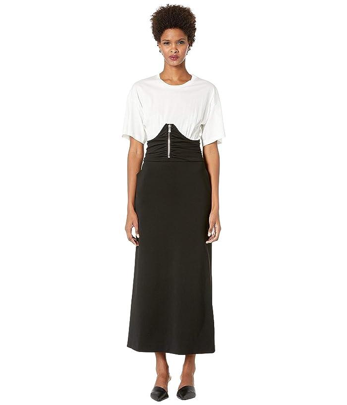 Boutique Moschino Short Sleeve Corset Maxi (Black/White) Women