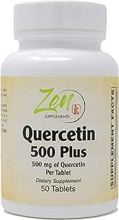 Quercetin Plus 500mg - Quercetin with Bromelain, Ascorbic Acid, Turmeric for Antioxidant & Inflammation Support, Immune Su...