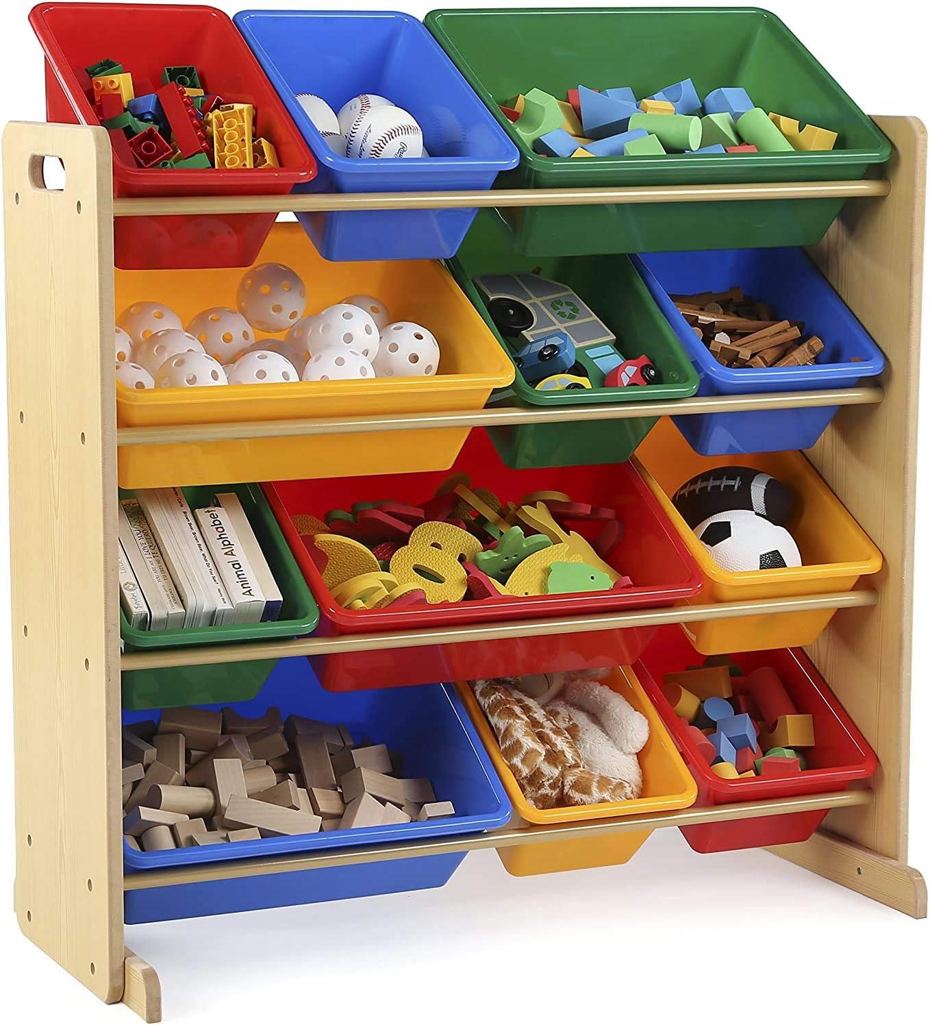 rimovibile con libreria e tessuto non tessuto o plastica PALAKLOT libreria organizer per giocattoli a 4 livelli Contenitore per giocattoli per bambini