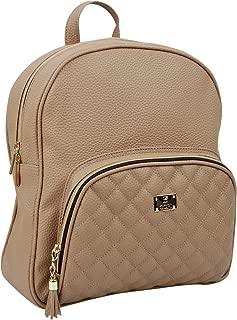 Women's bags Lovely, feminine Round Shape Design Quilted Point Small Backpacks Beige