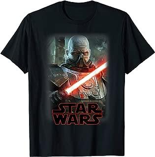 Darth Malgus Lightsaber Portrait Logo T-Shirt