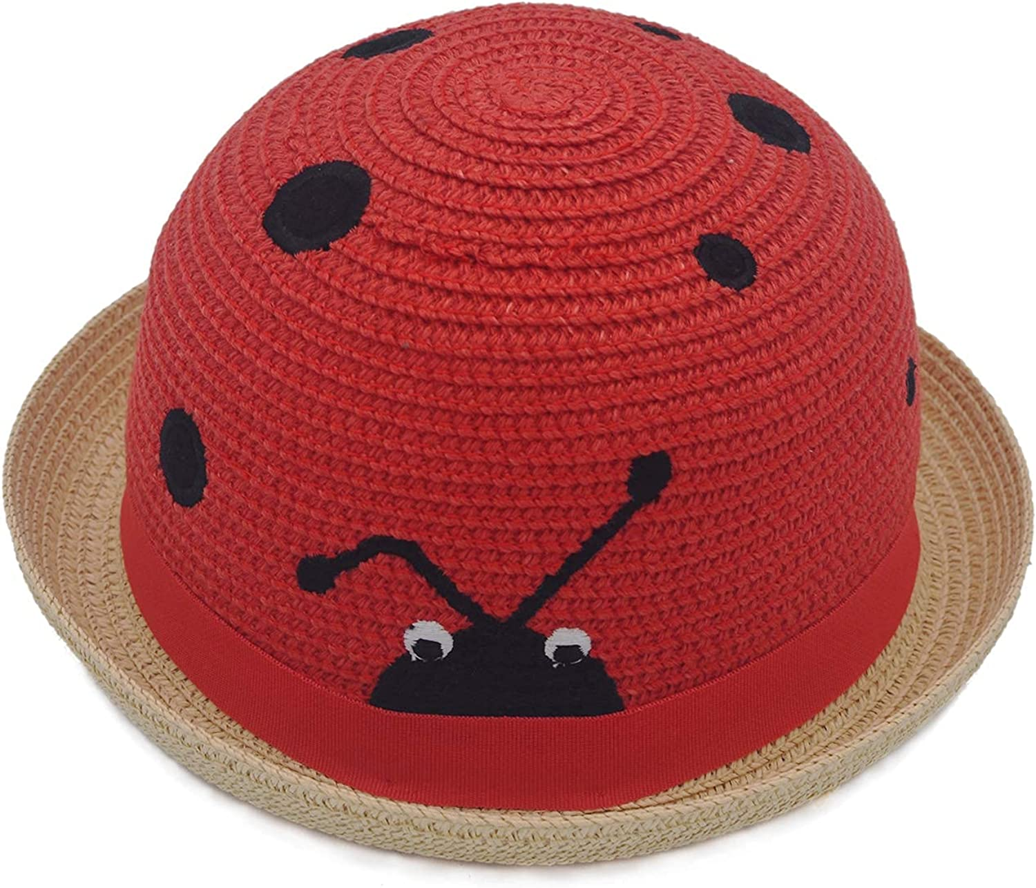Toddler Boys Girls Funny Novelty Party Straw Hats Kids Cute Insect Designed Outdoor Sun Protection Beach Cap Colorful: Clothing