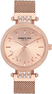 Kenneth Cole Women's Crystal Mesh KC50960002 Gold Stainless-Steel Quartz Dress Watch