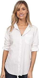 CAMIXA Women's Washed Casual Linen Button-Down Shirt Look Cool
