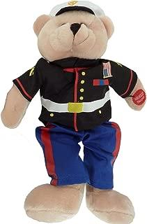 Plush Bear Chantilly Lane 11 Inch Singing Military Hero Marines From the Halls of Montezuma