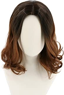 Topcosplay Women's Wigs Short Brown Wavy Eleven Costume Wig