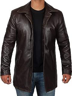 Brown Leather Jacket Men - Black Genuine Leather Coats for Men