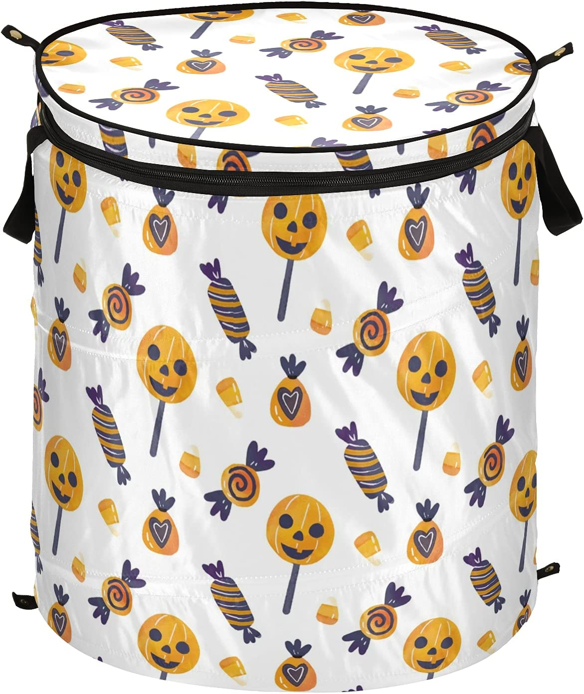 Happy Halloween Pumpkins Candy Pop Up Hamper Laundry with Lid Fo Sacramento Mall Max 69% OFF