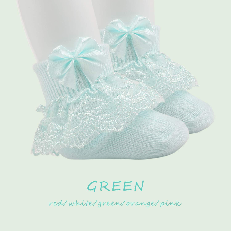 5 Pairs Toddler Lace Socks Baby Ruffles Socks Comfortable Baby Girls Lace Socks Infant Newborn Lace Socks