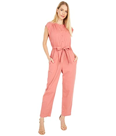 La Vie Rebecca Taylor Sleeveless Twill Jumpsuit (Pink Honey) Women