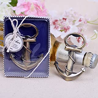 20pcs Nautical Theme Anchor Beer Bottle Opener Party Favors Gift Favor for Beach Wedding Baby Shower Birthday by Feracci