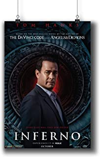 Inferno (2016) Movie Poster Small Prints 1008-002,Wall Art Decor for Dorm Bedroom Living Room (A3|11x17inch|29x42cm)