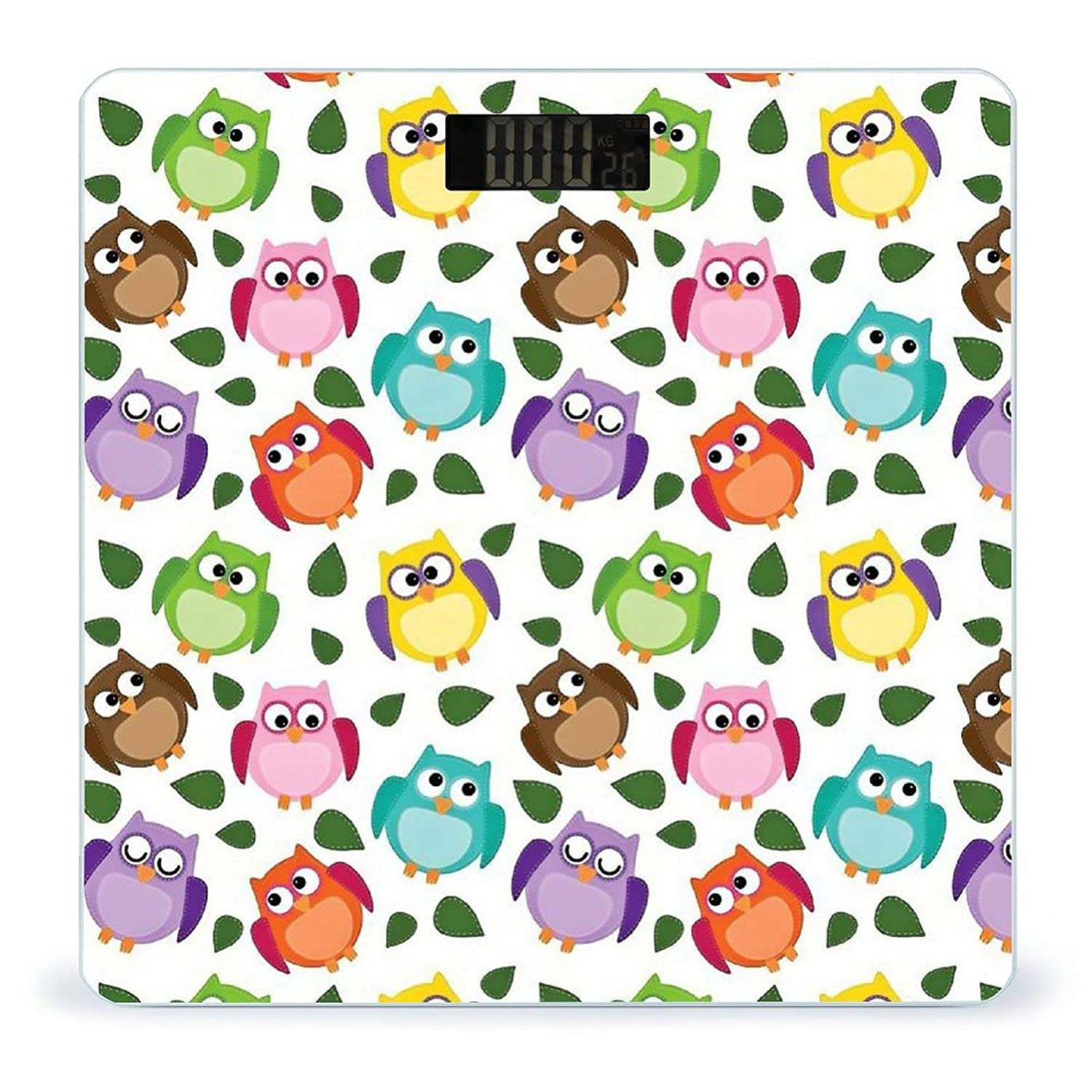 Colorful High material Cute OwlWeight Scale Challenge the lowest price of Japan ☆ Digit Battery-Powered Digital Body