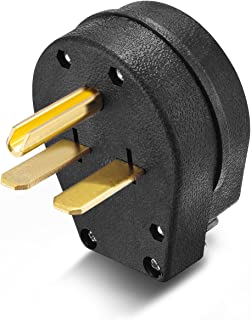 Aweking Nema 6-30 Power Plug Connector,30A 30 Amp,AC 250V 250Volt,2 Pole-3 Wire,Grouding,Straight Blade,Black