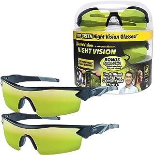 همانطور که در تلویزیون Battle Vision عینک دید در شب برای رانندگی توسط BulbHead مشاهده شده است - عینک رانندگی شبانه شگفت انگیز از چشم در برابر تابش خیره کننده چراغ محافظت می کند - لنزهای سبز باعث افزایش وضوح - قاب های قابل انعطاف می شوند