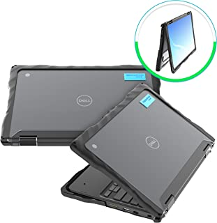 Gumdrop Droptech Case Designed for Dell 3100 2-in-1 Chromebook Laptop for K-12 Students, Teachers, Kids - Black, Rugged, Shock Absorbing, Extreme Drop Protection
