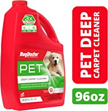 Rug Doctor Triple Action Pet Deep Carpet Cleaner; Permanently Removes Tough Pet Stains and Odors, Professional-Grade, Protects Soft Surfaces from Pet Accidents, Cleans 9 Rooms, CRI-Certified, 96 Oz.