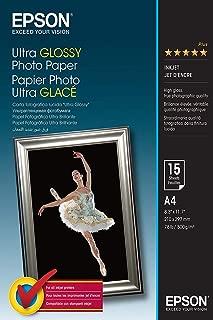 Epson C13S041927 Ultra Glossy photo Paper-Papier photo brillant-A4 (210 x 297 mm) - 15 feuilles
