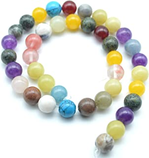 Catotrem Assorted Natural Round Bead Gemstone Energy Stone Healing Power Polished Loose Beads 8mm