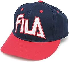 認めざるを得ない洗練されたデザイン 老舗ブランドの存在感溢れるCAP FILA(フィラ)ツイルGDキャップ