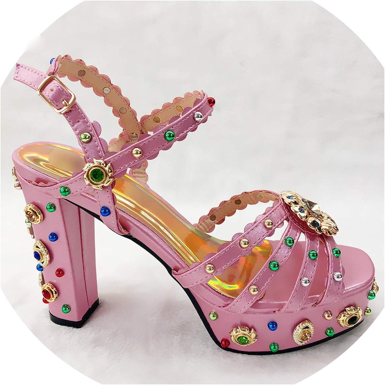 Ladies Summer shoes High Heel Sandals Wedding Women Party Rhinestone Woman shoes