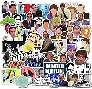 The Office Stickers Merchandise[50pcs]Funny Quote Design Pack With Michael Dwight Jim Dunder Mifflin for Hydro Flasks Wate...