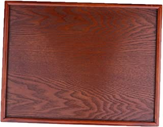 Baosity Wood Model Tray for Diorama Wargame Model Building Architecture Display Base - Red, 35x24cm