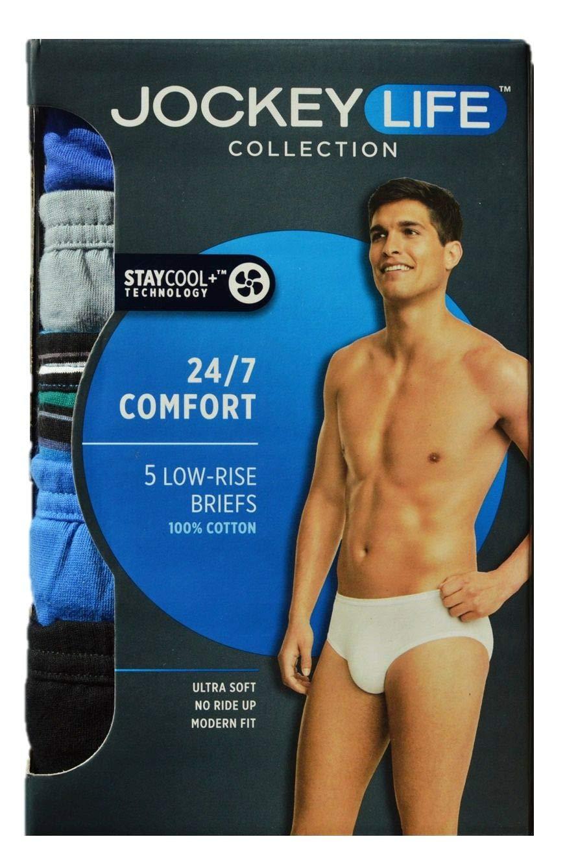 Jockey Life Mens 4-Pack Cotton Stretch Long-Leg Boxer Briefs Assorted Colors