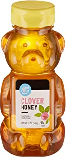 Amazon Brand - Happy Belly Clover Honey, 12 Ounce