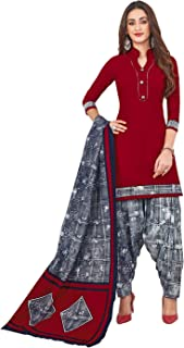 Jevi Prints Women's Cotton Printed Readymade Stitched Salwar Suit Dupatta (SUIT_CP-237)