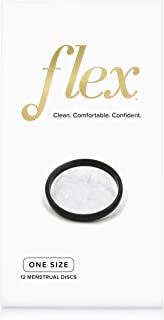 FLEX Menstrual Disc - Disposable Period Discs - Tampon, Pad, and Cup Alternative - 12 Count - Black