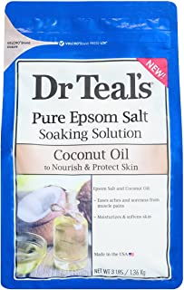 Dr Teal's Pure Epsom Salt Soaking Solution Coconut Oil 3lbs , pack of 1