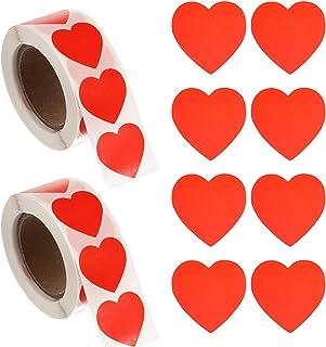 GOTH Perhk Lot de 1000 autocollants en forme de cœur pour mariage, Saint-Valentin, anniversaire, emballage et décoration d...