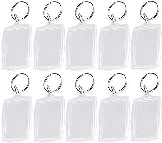 25 llaveros de acrílico transparente con forma de rectángulo en blanco para fotos llavero de inserción llavero personaliza...