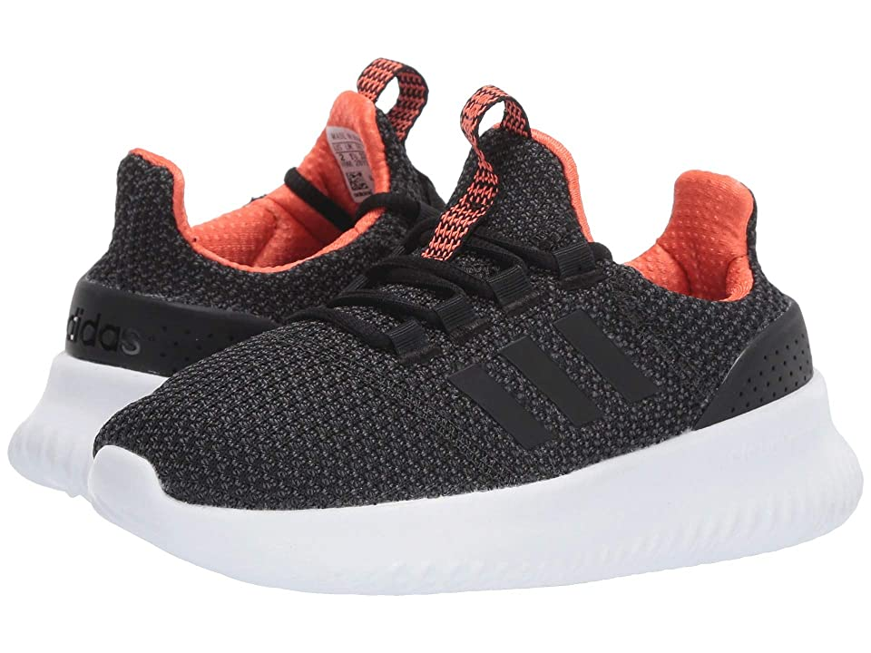 adidas Kids Cloudfoam Ultimate (Little Kid/Big Kid) (Core Black/Core Black/True Orange) Kids Shoes