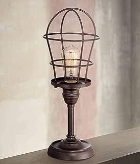 Modern Industrial Desk Table Lamp 17 1/4