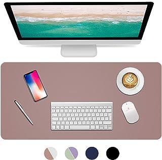Dual Sided Desk Pad, 2020 Upgrade Sewing PU Leather Office Desk Mat, Waterproof Desk Blotter Protector, Desk Writing Mat G...