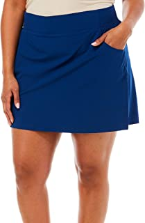Coral Bay Womens Solid Scalloped Pull On Skort
