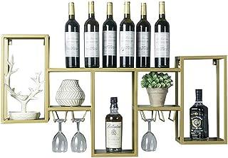 XHCP Organisation de Rangement de Cuisine Casier à vin Porte-Verre à vin Support Mural en métal |Étagère Murale Support d...