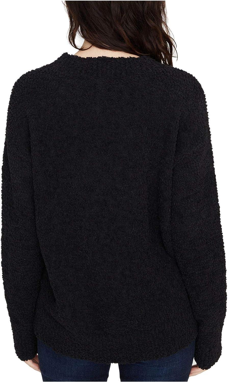 Sanctuary Womens Texured Teddy Crewneck Sweater