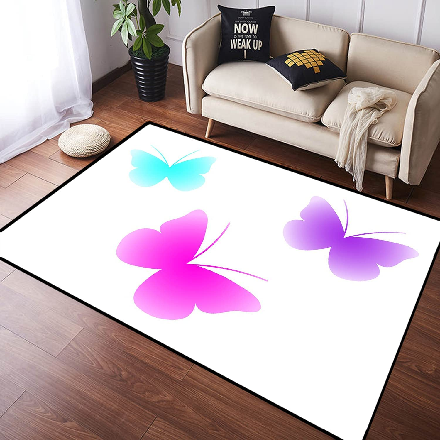 ZOMOY Long Trust Floor Mat Carpet Butterfly Absorben Colorful Max 50% OFF Non-Slip