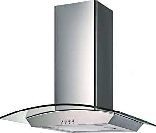 Ancona GCP430 Wall-Mounted Glass Canopy Style Convertible Range Hood, 30-Inch, Stainless Steel