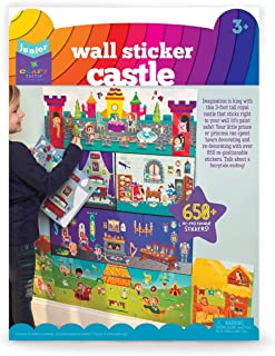 Craft-tastic Jr – Wall Sticker Castle – 3-Foot Tall Castle with Over 650 Reusable Stickers