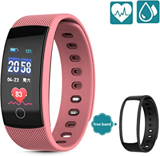 Fitness Trackers - Heart Rate Monitor, Pedometer, Sleep Monitor and IP 67 Waterproof Activity Tracker Watch with 5 Sport Modes, Step and Calorie Counter for Kids Women and Men